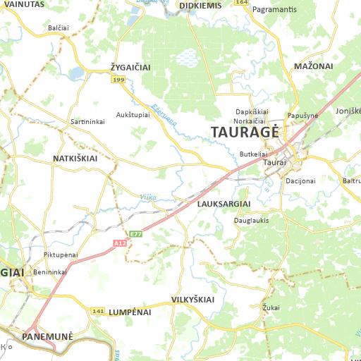 Pagėgių savivaldybės žemėlapis
